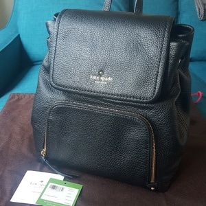 Kate Spade Cobble Hill Charley Backpack Bag Black